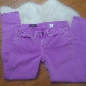 J. Crew Lilac Toothpick Ankle Jeans. Size 29